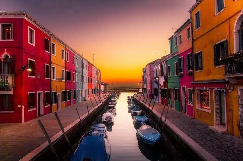 L'isola di Burano a Venezia